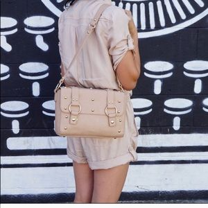 Brand new with tags beige faux leather purse